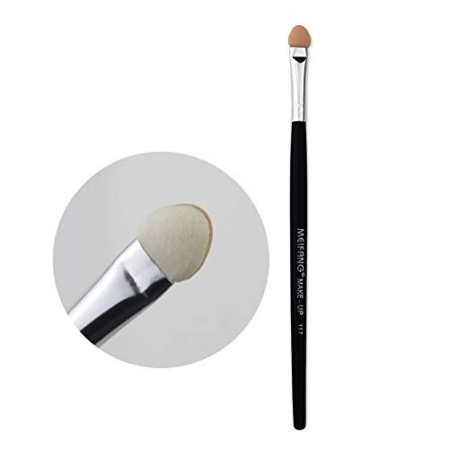 Sponge Eye Shadow Brush Professional Tête Simple Double Fard À Paupières Applicateur Cosmétique Maquillage Outil 4.72 * 1.5In (Noir)