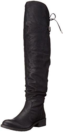 Very Volatile Women's Densy Riding Boot, Black, 6 B US