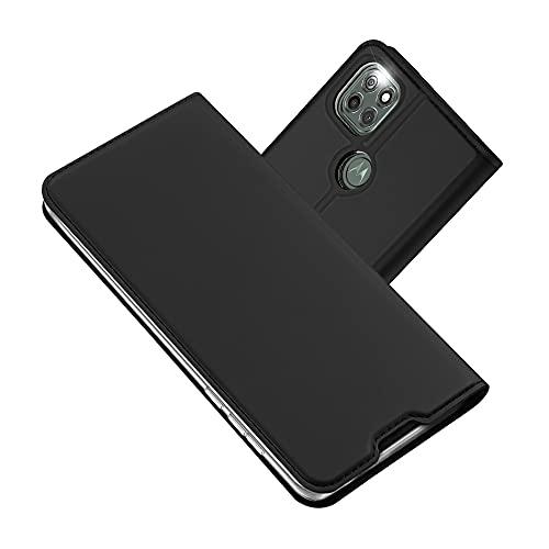 Radoo Funda Compatible con Moto G9 Power, Slim Case de Estilo Billetera Carcasa Libro de Cuero, PU Leather con TPU Silicona Case Interna Suave [Función Soporte] para Moto G9 Power (Gris Oscuro)