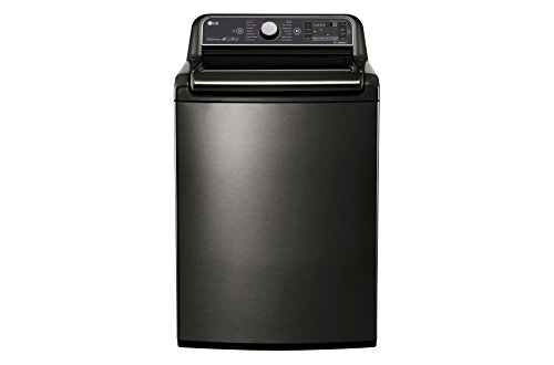 LG WT7600HKA 5.2 Cu. Ft. Black Stainless High Efficiency Top Load Washer