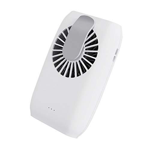LINMAN 4 en 1 Ventilador portátil portátil, muñeca Manos Libres/de Cintura/Cuello Ventilador de Asas USB Flujo de Aire Fuerte para Sala, Camping, Oficina, Viajes (Color : White)