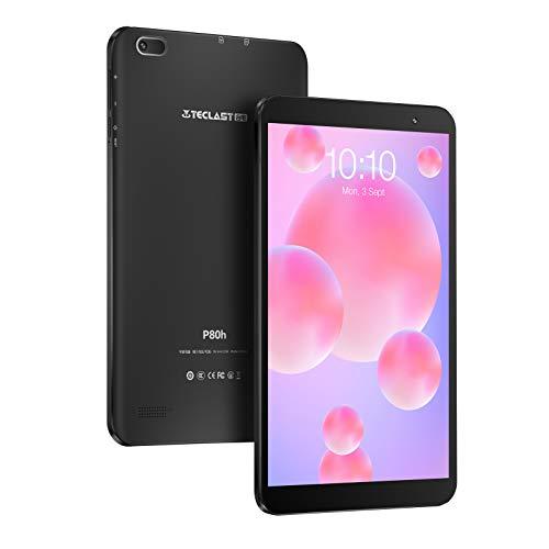 【2020最新 Android10.0モデル】TECLAST P80h タブレット、8インチ 、2GB RAM 32GB ROM、1280×800 IPS 、4コアCPU、WiFi、Type-C、デュアルカメラ 、GPS 、Bluetooth 4.2、TF拡張