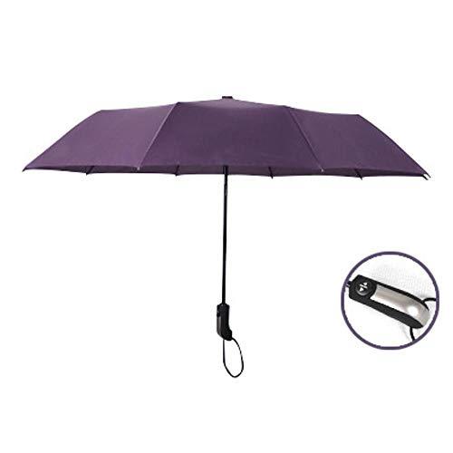 WDZZZ Opvouwbare paraplu 10 Bone automatische zakelijke opvouwbare regen en glans mannen en vrouwen super-grote versterkte zon paraplu 59 * 105cm