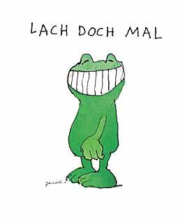 Kunstdruck/Poster: Janosch Lach doch mal - hochwertiger Druck, Bild, Kunstposter, 30x40 cm