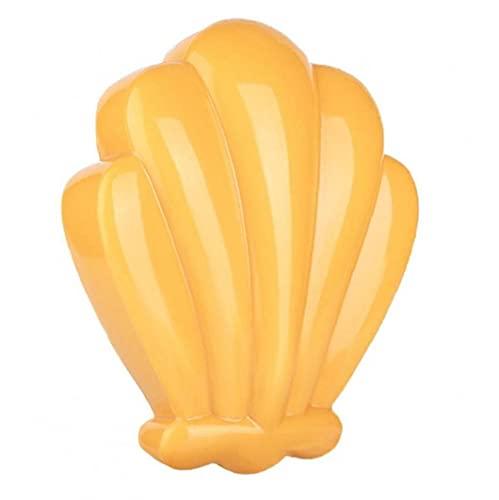 RRunzfon Archivo de pie Removedor de Piel Duro Shell Forma Pedicura Scrubber Pie Peeling Scraper Amarillo, Herramientas de Cuidado de los pies