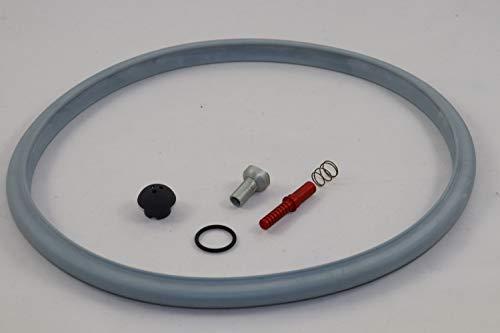 Reparaturset für Schnellkochtopf Tischfein/WMF Express + Easy - Ventil/Druckanzeiger - Dichtungsring 20cm - Sicherheitsventil Set6