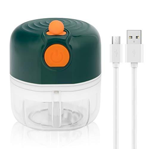 peinat Mini Picadora, Trituradora de Alimentos, 100ML Picador de Ajo Eléctrica Procesador...