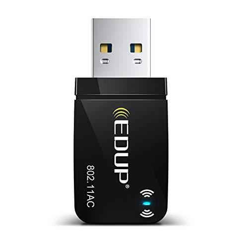 Mini WLAN USB Adapter 1300 MBit/s EDUP USB 3.0 WLAN Stick Dongle 802.11 AC Netzwerkadapter 867Mbit/s (5GHz), 433Mbit/s (2,4GHz) Netzwerk Empfänger mit integrierter Antenne für Windows 10/8/7 Mac OS