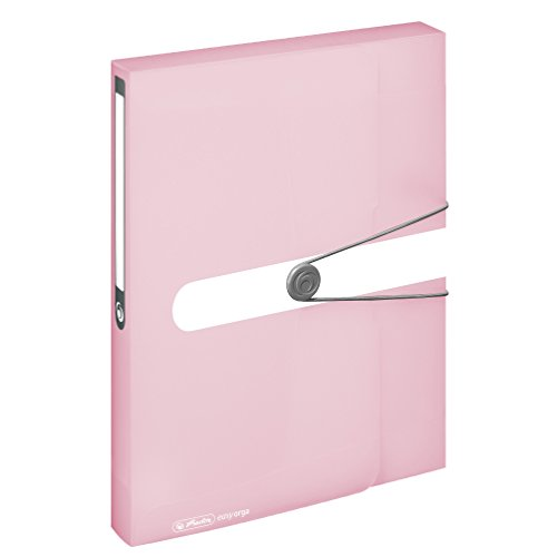 Herlitz 11408986 Sammelbox, A4, PP-Folie rose, transparent