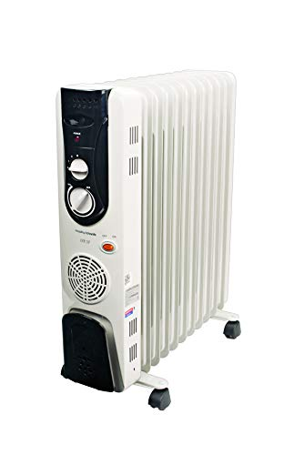 Morphy Richards OFR 11F 11-Fin 2500 Watts Oil Filled Radiator Room Heater (Ivory)