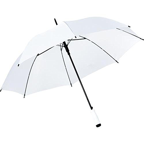 JUST Married Regenschirm - Weiss - ideal für Braut & Bräutigam - Brautpaar - Hochzeitsschirm - mit Just Married Aufdruck