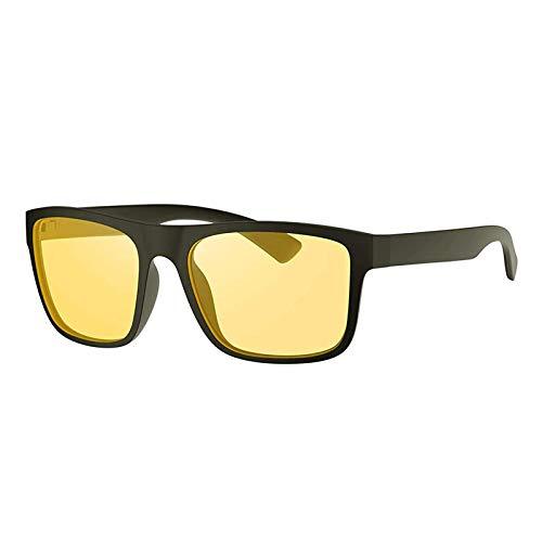 Avoalre Gafas Anti luz Azul para Ordenador Amarillo Gafas Cuadradas Unisex Ligeras para Hombre y Mujer de Oficina, Antifatiga y contra el Cansancio Ocular para Pantalla, Móvil, TV, Marco Negro