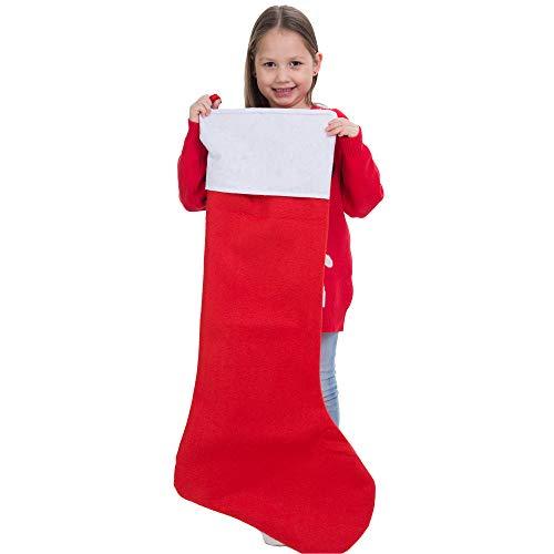 """36"""" Jumbo Felt Christmas Stocking (4 Pack) Christmas Large Stocking"""
