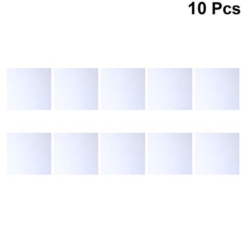 HEALLILY 10 Stück Bastelspiegel Quadratische Spiegelfliesen Glasmosaikfliesen Dekoratives DIY-Zubehör 40X40mm
