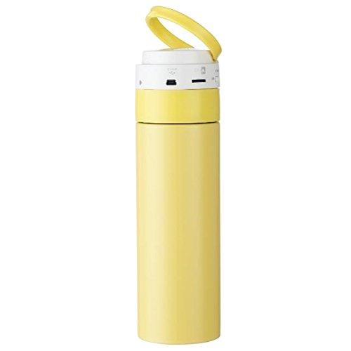Multifonction en acier inoxydable randonnée Bureau For Sports de plein air Cyclisme Camping Bouteille d'eau de Voyage isoler Coupe chaude bouteille extérieure couverte (jaune)