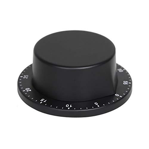 Yagosodee Temporizador de cocina Equipo de cocina Temporizador de huevo, magnético mecánico 60 minutos recordatorio de cuenta regresiva, para cocinar hornear, juegos, lectura, trotar (Negro)