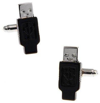 gemelolandia | Gemelos Inform‡tico Clavija USB Gemelos Originales Para Camisas | Para Hombres y Niños | Regalos Para Bodas, Comuniones, Bautizos y Otros Eventos