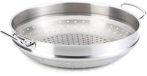 Fissler Profi Collection Compartimento Adicional para vaporera Compatible con la sartén Wok y Apto para cocinas, incluida inducción, Acero Inoxidable, Plateado, 36cm