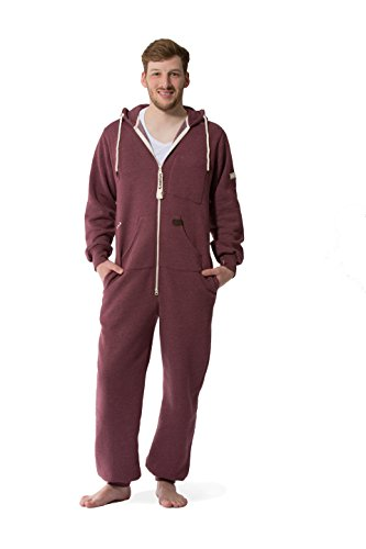 Jumpster Damen und Herren Jumpsuit Weicher Onesie Exquisite Regular Fit Rot - 3