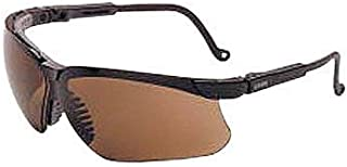 Uvex by Honeywell Genesis Safety Glasses with Black Polycarbonate Frame and Espresso Polycarbonate Ultra-dura Anti-Scratch Hard Coat Lens