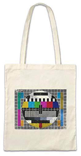 TV TEST PICTURE I HIPSTER BAG - Stofftasche Stoffbeutel - Testbild Retro Kult