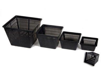 Kleine quadratische Teich-Pflanzkörbe - Garten / Teich-Bepflanzung - Packungen von 12