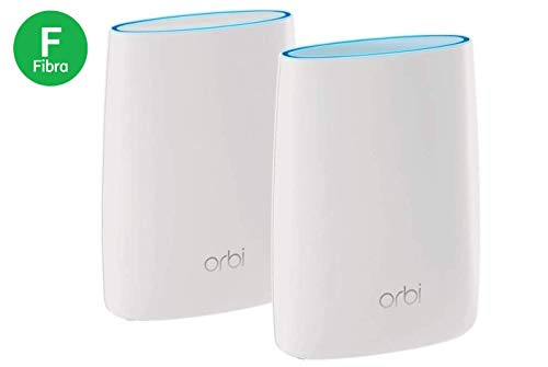 Netgear Orbi RBK50 WiFi Mesh Ultra potente AC3000, 2 unità per case con muri spessi, copertura wifi fino a 350 mq