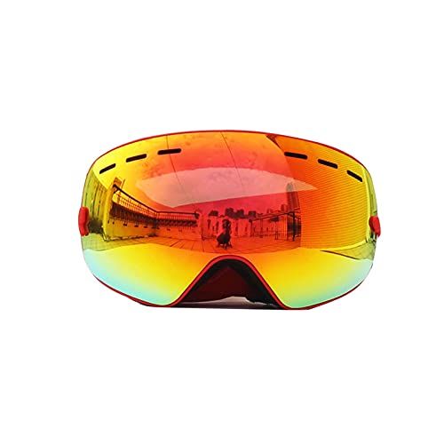 TCross Gafas Anti-Niebla Dobles Capas de esquí Gafas de esquí Gran Lente de esquí máscara de esquí esquiando Snowboard Gafas Espejo polarizar Gafas for Hombres (Color : Orange)