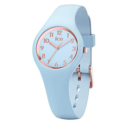 Ice-Watch - Ice Glam Pastel Lotus - Blauw dameshorloge met siliconen armband - 015345 (Extra Small)