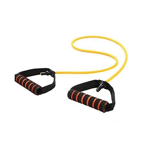 Zhuzhu Yoga Belts Fitness Sports Entertainment Gym Elastic Stretch Women Men Home Training Workout Pull Rope Bands (Yellow(58cm), OneSize)