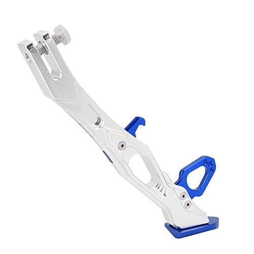 Aramox Ständer Universal Motorrad, Motorrad Aluminiumlegierung Seitenständer Stativrahmen Parkfüße Ständer Ständer B05026 Rot + Blau(Blau)