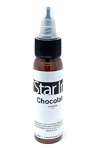 STAR INK - Chocolate - Schokolade - deutsche Premium Tattoofarbe - 30ml - made in Germany mit Zertifikat - INKgrafiX® - IG50144 Braun