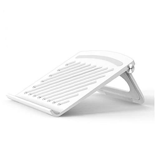 1PC el ordenador portátil representa base de silicona ABS antideslizante de escritorio Elevación Soporte para Ordenador Ministerio del Interior (blanco)