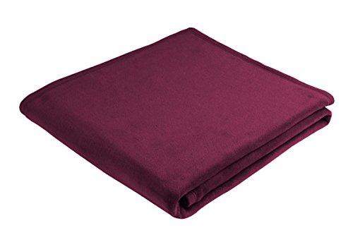 Biederlack Thermosoft deken, katoenmix, wijnrood, voor tweepersoonsbed, afmetingen: 200 x 150 cm