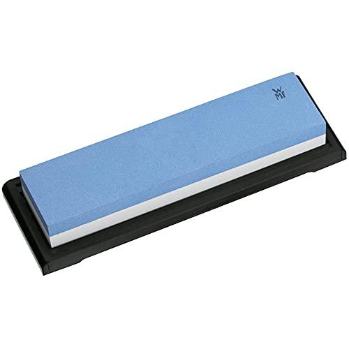 WMF Schleifstein 5 x 20 x 2,5 cm, grobe und feine Körnung, Kunststoffschale, ideal für Yamato und Damasteel Messer