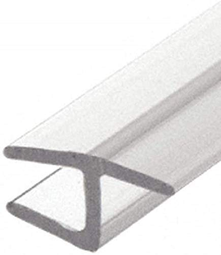 CRL Polycarbonate h Jamb with Soft Leg for 180 Degree for 1/2 Glass - 95 in long