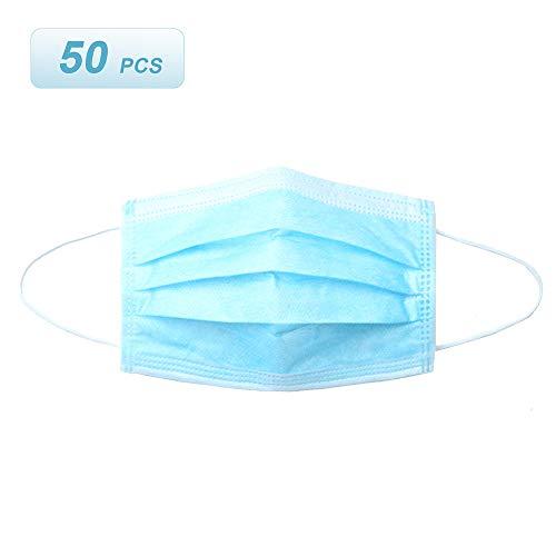 Benkeg 50ピース使い捨てマ-スク3層通気性不織布保-護衛生マ-スク