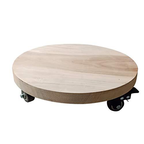 AHXF Holz Gefäßroller, Holz Pflanzenroller,Holz Blumenroller Für Den Innenbereich, Belastbar: 60-150kg,for Indoor, Outdoor, Holz Farbe (Size : 38CM)