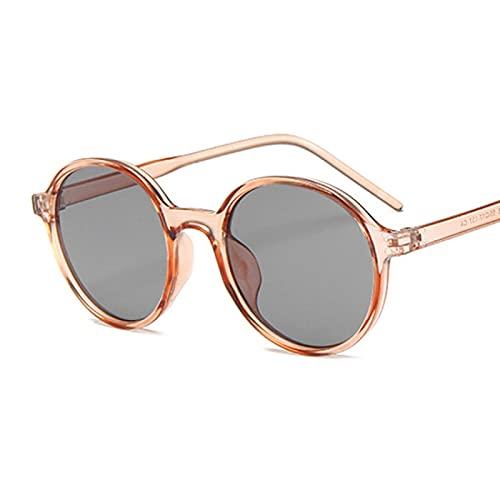 ShZyywrl Gafas De Sol Gafas De Sol Mujer Clásico Gradiente Marco Grande Gafas De Sol Mujer Vintage Gafas De Sol Redondas Uv400 Champagnegra