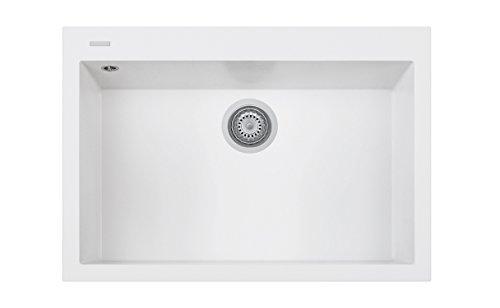 Lavello da cucina PLADOS ON7610 vasca singola Bianco Latte