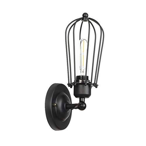 LEWWB Schwarz Wandlampe Wohnzimmer Schlafzimmer Wandbeleuchtung Hohe Qualität Flur Eisenkunst Wandleuchte