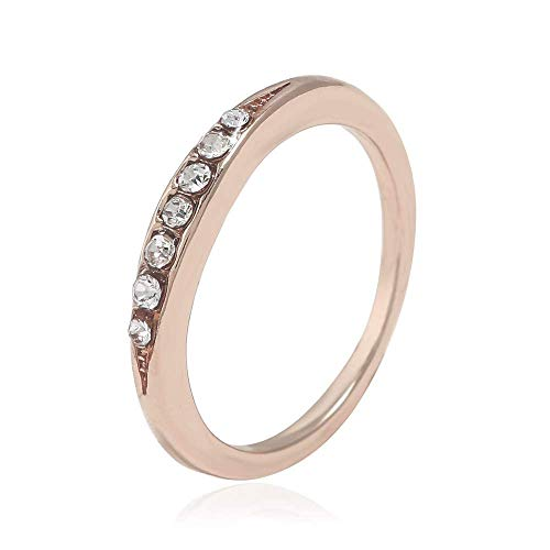 Eg /_ LC/_ Mode Strass Ring Damen Kristall Hochzeit Verlobungsfeier Schmuck P