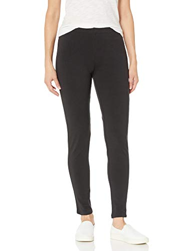 Hanes Women's Stretch Jersey Legging, Black, Large