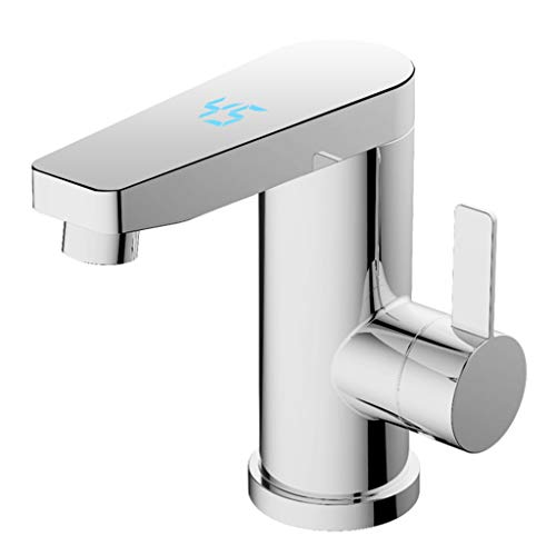 Elektrischer Warmwasserhahn Bad Durchlauferhitzer, nur 16cm hoch, zur Beckenmontage geeignet