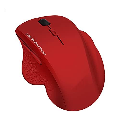 QIAI Ratón para Juegos De 2,4G, Ratón Silencioso Inalámbrico, Ratón Ergonómico Recargable para Juegos, Ratón óptico USB con Retroiluminación LED para Ordenador Portátil(Color:B)