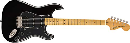 Squier by Fender Classic Vibe 70's Stratocaster Electric Guitar - HSS - Maple - Black