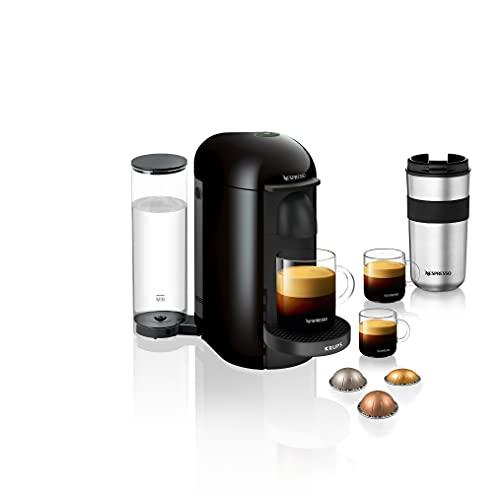 Nespresso Vertuo Plus XN903840 Coffee Machine by Krups, Black