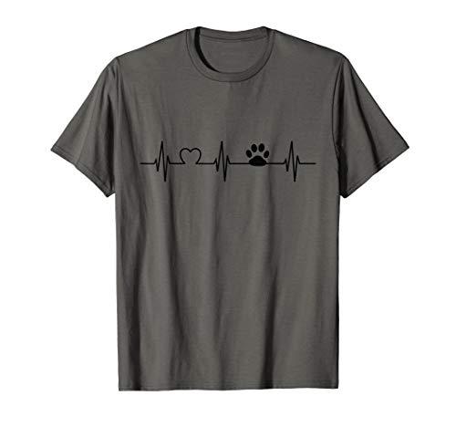 Hund Katze Herzschlag Pfote für Hundebesitzer T-Shirt