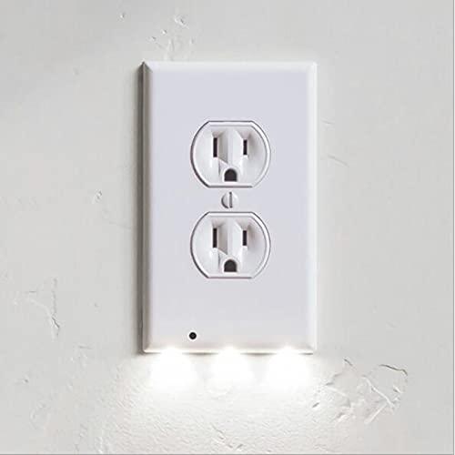 ADAGG Guida Luce Duplex Presa Piastra A Parete LED Quadrato Sensore di Movimento Luci Notte Luce Induzione Armadio Lampada