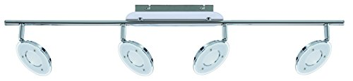 Trango 4-flg. Design LED Deckenleuchte für Wohnzimmer Küche Flur Bad WC usw. ink. 4x LED Modul 3000K Warm-Weiß TG2002-048